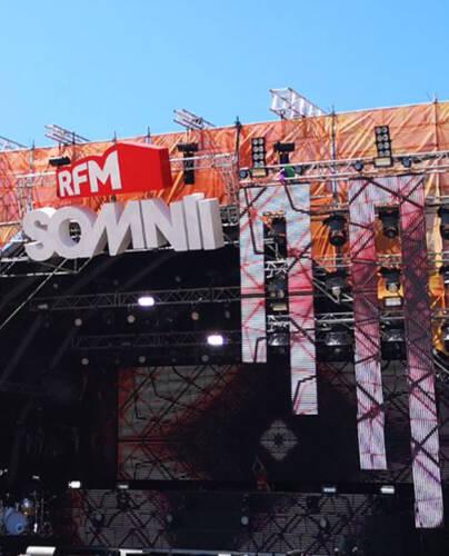 Palco del festival RFM SOMNII